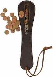 Thick Leather Slapjack Vintage Coin Purse/Slap Polish Sap Wallet Handmade Mini Leather Coin Purse