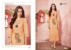 Designer Cotton Embroidery Handwork Kurtis