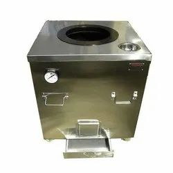 Stainless Steel Round Gas Tandoor, For Hotel