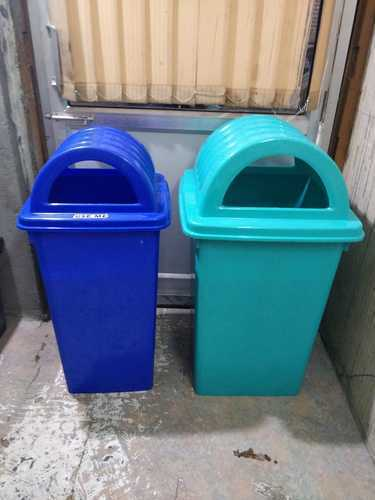 Plastic Green and Blue Dustbin