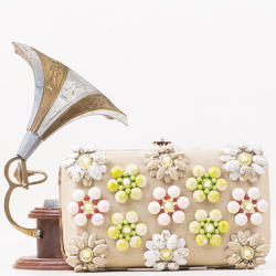 Stylish Stone Embroidery Clutch Bag