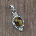 925 Sterling Silver Tiger Eye Stone Antique Jewelry Set