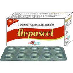 L-Ornithine L-Aspartate 150 mg  & Pancreatin 100 mg.