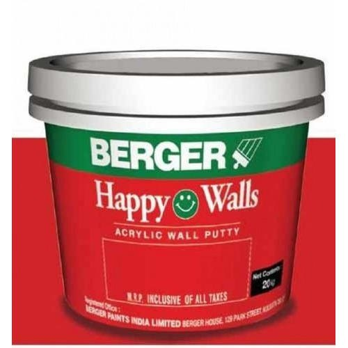 White Wall Coating Berger Acrylic Wall Putty, Packaging: Bucket