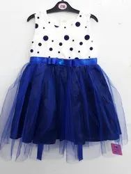 Blue N White Party Frock