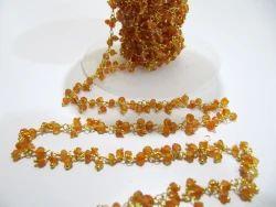 Carnelian Beaded Cluster Chain