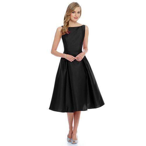 87209bcaeea Black Silk One Plain Piece Dress
