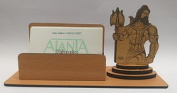 3096 Ajanta Shankar Bhagwan Wooden Card Holder