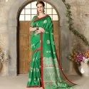 Fancy Green Art Silk Saree