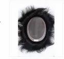 8x5 Inch Natural Human Hair Black