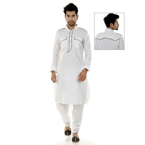 f2d6f26b0 White Cotton Pathani Suit