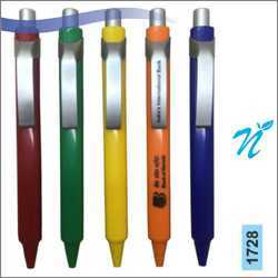 Plastic Opaque Pen with Satin Parts