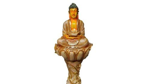 Fiber Lotus Budhha Water Fountain, For Indoor Decoration