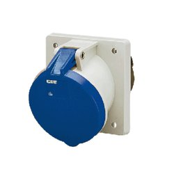 1147A Panel Mounted Industrial Socket Receptacle