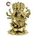 Brass Gayatri Mata Statue