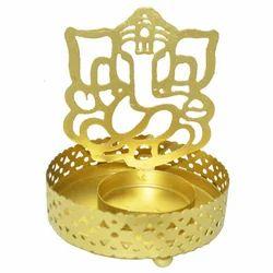 Iron Ganesha Candle Stand