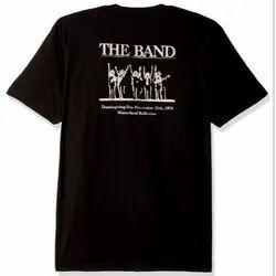 Black Cotton Printed Custom T Shirts
