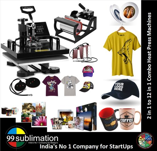 99 Sublimation 9 In 1 Combo Heat Press Machine For Bear Mugs Caps Rocks