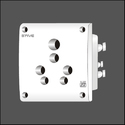 6 And 16 Amp White Multi Electric Socket