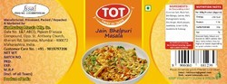 TOT TENGY AND LITTLE SPICY Jain Bhelpuri Masala, Packaging Type: Packet