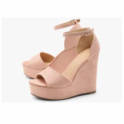 5d78e91d3186 Ladies Rubber Fancy Heel Sandal