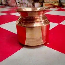 Copper Plain Navin Rajashahi Lota, Size: 5 Inches, Capacity: 500 Ml