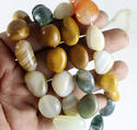 Natural Agate Tumble Beads