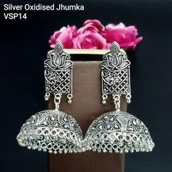 Brass Casual Wear Tithi Silver Oxidised Jewellery, Light Weight