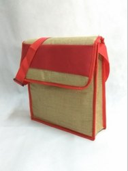 Red Polyester Jute Conference Bag, For Promotion, Size: 14X12X4