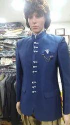 Blue Full Sleeve Designer Jodhpuri Suit