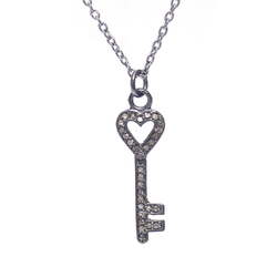 Diamond Key Shape Necklace