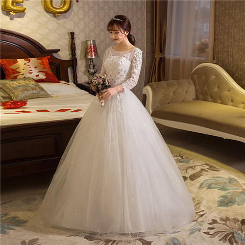 Christian Wedding White Gown: White Medium And Large Christian Wedding Catholic Gown