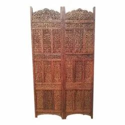 Brown Wooden carved partition, For Home, 4