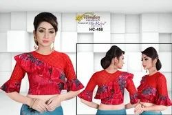 Multicolor Himalay Creation Designer Stretchable Party Wear Blouse