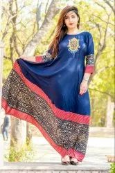 Ladies Embroidered Designer Kurtis Gown