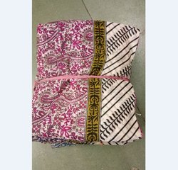 Printed Bhagalpuri Cotton Saree, 5.5 m (with blouse piece)