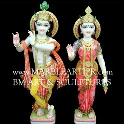 Marble Krishna Radha Statue