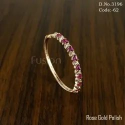American Diamond Ruby Bracelet