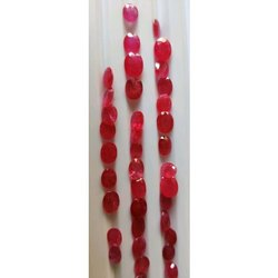 Faceted Red Ruby Gemstone