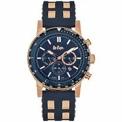 Casual Wear Analog Lee Cooper Mens Blue Dial Watch
