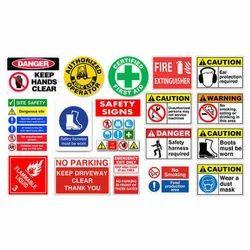 Vinyl Industrial Safety Sticker, Shape: Rectangle