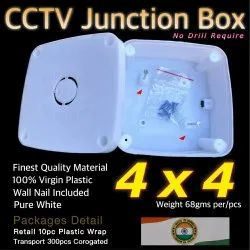 CP Plus Pvc junction box 4/4 New, For Wall Fiting