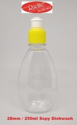 Clear Radhe Containers Liquid Dish Wash Bottle, Pull Push, Size: 28mm
