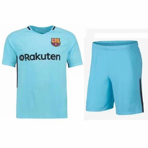 lowest price 94afb d0cf7 Men Half Sleeves Navex Barcelona Fan's Sky Blue Jersey | ID ...