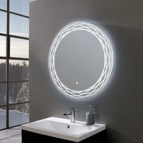 Venetian Image Circular Matt Designed, Bathroom Mirror Design Image