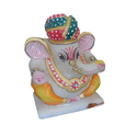 10 Inch Marble Pagri Ganesh