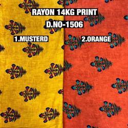Rayon Viscose Printed Fabric