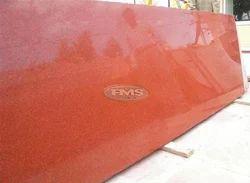 Polished Big Slab Lakha Red Granite, Application Area: Flooring, Thickness: 15-20 mm