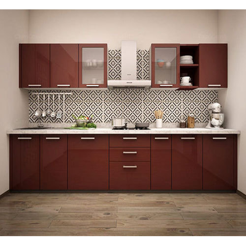Straight Modular Kitchen, 8 Square Modular Kitchens