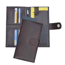Brown Passport And Travel Wallet